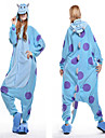 Vuxna Kigurumi-pyjamas Blått Monster Djurmönstrad Onesie-pyjamas Polär Ull Blå Cosplay För Herr och Dam Pyjamas med djur Tecknad serie Festival / högtid Kostymer