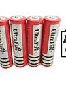 UltraFire BRC Li-jon 18650 batteri 4200 mAh 4pcs 3.7 V Uppladdningsbar för Ficklampa Bike Light Huvudlampor Jakt Klättring Camping / Vandring / Grottkrypning