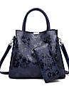 Dam Dragkedja PU bag set Ensfärgat 2 st handväska Svart / Purpur / Blå