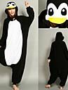 Barn Vuxna Kigurumi-pyjamas Pingvin Onesie-pyjamas Flanell Vit Cosplay För Herr och Dam Pyjamas med djur Tecknad serie Festival / högtid Kostymer / Trikå / Onesie / Trikå / Onesie