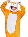 Vuxna Kigurumi-pyjamas Räv Onesie-pyjamas Flanelltyg Orange Cosplay För Herr och Dam Pyjamas med djur Tecknad serie Festival / högtid Kostymer
