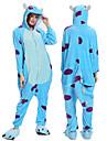 Vuxna Kigurumi-pyjamas Tecknat Onesie-pyjamas Flanell Blå Cosplay För Herr och Dam Pyjamas med djur Tecknad serie Festival / högtid Kostymer