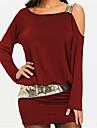 Women\'s Basic Mini Sheath Dress - Solid Colored One Shoulder Black Wine Purple S M L XL