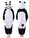 Barn Kigurumi-pyjamas Panda Djurmönstrad Onesie-pyjamas Polär Ull Svart Cosplay För Pojkar och flickor Pyjamas med djur Tecknad serie Festival / högtid Kostymer