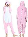 Vuxna Kigurumi-pyjamas Gris Djurmönstrad Onesie-pyjamas Polär Ull Rosa Cosplay För Herr och Dam Pyjamas med djur Tecknad serie Festival / högtid Kostymer