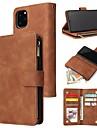 ケース 用途 Apple iPhone 11 / iPhone 11 Pro / iPhone 11 Pro Max ウォレット / カードホルダー / 耐衝撃 フルボディーケース ソリッド PUレザー / TPU