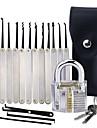 12個のロック解除ロックが付いた透明な練習南京錠は、キー抽出ツールを設定します