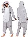Vuxna Kigurumi-pyjamas Elefant Onesie-pyjamas Flanell Grå Cosplay För Herr och Dam Pyjamas med djur Tecknad serie Festival / högtid Kostymer
