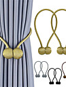 2Pcs Curtain Straps Creative Minimalist Tendon Curtain Magnetic Buckle Free Punching Free Installation Curtain Buckle