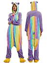 Vuxna Kigurumi-pyjamas Tecknat Panda Onesie-pyjamas polyesterfiber Regnbåge Cosplay För Herr och Dam Pyjamas med djur Tecknad serie Festival / högtid Kostymer