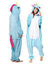 Vuxna Kigurumi-pyjamas Unicorn Ponny Onesie-pyjamas Flanell Blå Cosplay För Herr och Dam Pyjamas med djur Tecknad serie Festival / högtid Kostymer