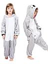 Barn Vuxna Kigurumi-pyjamas Animé Koala Onesie-pyjamas Flanell Grå Cosplay För Pojkar och flickor Pyjamas med djur Tecknad serie Festival / högtid Kostymer