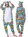 Vuxna Kigurumi-pyjamas Katt Mellan Onesie-pyjamas Flanelltyg Vit Cosplay För Herr och Dam Pyjamas med djur Tecknad serie Festival / högtid Kostymer