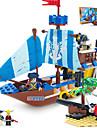 ENLIGHTEN Byggklossar Modellbyggset Byggsats Leksaker Pirat Skepp Pirater kompatibel Legoing Pojkar Flickor Leksaker Present / Utbildningsleksak