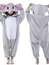 Barn Kigurumi-pyjamas Elefant Djurmönstrad Onesie-pyjamas Polär Ull Grå Cosplay För Pojkar och flickor Pyjamas med djur Tecknad serie Festival / högtid Kostymer