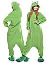Vuxna Kigurumi-pyjamas Ettögd Monster Djurmönstrad Onesie-pyjamas Polär Ull Grön Cosplay För Herr och Dam Pyjamas med djur Tecknad serie Festival / högtid Kostymer