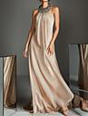Sheath / Column Halter Neck Sweep / Brush Train Chiffon Elegant Formal Evening Dress 2020 with Beading / Sequin