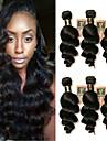6 paket Brasilianskt hår Löst vågigt Obehandlad hår Human Hår vävar Hårförlängning av äkta hår Människohår förlängningar / 10A