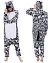 Vuxna Kigurumi-pyjamas Mellan Djurmönstrad Onesie-pyjamas Polär Ull Svart / Vit Cosplay För Herr och Dam Pyjamas med djur Tecknad serie Festival / högtid Kostymer