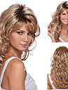 Syntetiska peruker Lockigt Asymmetrisk frisyr Peruk Blond Lång Blond Syntetiskt hår 27 tum Dam Blond