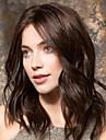 Syntetiska peruker Kroppsvågor Asymmetrisk frisyr Peruk Lång Beige Syntetiskt hår 20 tum Dam Bästa kvalitet curling Brun
