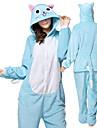 Adulto Pijamas Kigurumi Gato Pijamas Macacao Flanela Azul Cosplay Para Homens e Mulheres Pijamas Animais desenho animado Festival / Celebracao Fantasias / Collant / Pijama Macacao