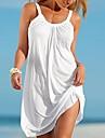 Women\'s Strap Dress Short Mini Dress White Black Purple Fuchsia Light Blue Sleeveless Solid Colored Summer Spring & Summer Round Neck Basic Hot vacation dresses 2021 S M L XL XXL / Plus Size