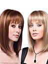 Syntetiska peruker Rak Kinky Rakt Asymmetrisk frisyr Peruk Lång Medium längd Ombre Blond Ombre Brown Syntetiskt hår 16 tum Dam Bästa kvalitet Mörkbrun Blond