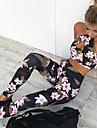 Per donna 2 pezzi Set di Abbigliamento Sportivo Set di Abbigliamento Fitness Tuta da yoga Sportivo 2 pezzi Senza maniche Vita alta Nylon Asciugatura rapida Traspirante Morbido Fitness Allenamento in