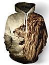 Men\'s Plus Size Hoodie 3D Hooded Casual / Basic Slim Khaki US32 / UK32 / EU40 US34 / UK34 / EU42 US36 / UK36 / EU44 US38 / UK38 / EU46 US40 / UK40 / EU48 US42 / UK42 / EU50
