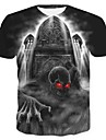 Men\'s T-shirt 3D Animal Print Short Sleeve Tops Streetwear Exaggerated Round Neck Rainbow