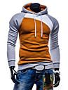 Men\'s Hoodie Color Block Hooded Daily Casual Hoodies Sweatshirts  Slim Blue Yellow Gray