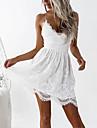 Women\'s Strap Dress Short Mini Dress White Black Pink Sleeveless White Backless Summer V Neck Hot Sexy S M L XL XXL