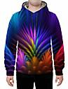 Men\'s Hoodie 3D Hooded Basic Rainbow US32 / UK32 / EU40 US34 / UK34 / EU42 US36 / UK36 / EU44 US38 / UK38 / EU46 US40 / UK40 / EU48 US42 / UK42 / EU50