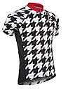 21Grams Men\'s Short Sleeve Cycling Jersey Spandex Polyester Black / White Plaid Checkered Solid Color Bike Jersey UV Resistant Breathable Quick Dry Sports Plaid Checkered Mountain Bike MTB Road Bike