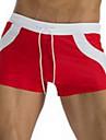 Pánské Kalhotky Plavky Barevné bloky Rubínově červená Větší velikosti Plavky Plavky