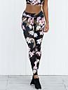 Women\'s Sporty Basic Skinny Jogger Sweatpants Pants - Plants Floral Print Tropical Leaf, Classic Sporty Patchwork Black S / M / L