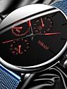 Men's Dress Watch Analog Quartz Stylish Casual Fake Three Eyes Six Needles Casual Watch / One Year / Titanium Alloy