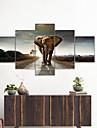 amj熱い販売タイ象共同絵画リビングルームのソファ背景壁装飾キャンバス画像フレームレスコア