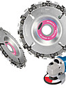 4 inch Steel Chain saw Blade for Wood Carving 22 Teeth Angle Grinder Disc Arbor 1PCS