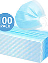 In Stock 100PCS 3-layer Disposable Masks Safe Breathable Mouth CE Certified Face Mask Disposable Ear loop Face for Personal Protection