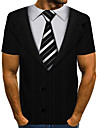 Per uomo maglietta 3D Manica corta Quotidiano Top Essenziale Rotonda Arcobaleno