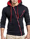 Men\'s Hoodie Zip Up Hoodie Solid Colored Hooded Daily Basic Hoodies Sweatshirts  Slim White Light gray Black
