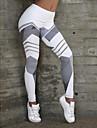 Women\'s Sports / Yoga Sporty / Basic Legging - Geometric, Print Mid Waist White Black S M L