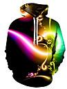 Men\'s Hoodie 3D / Cartoon / Character Hooded 3D Print / Casual Rainbow US32 / UK32 / EU40 US34 / UK34 / EU42 US36 / UK36 / EU44 US38 / UK38 / EU46 US40 / UK40 / EU48 US42 / UK42 / EU50 US44 / UK44