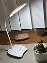 Lampada de mesa sensor de toque moderno contemporaneo usb powered para sala de estudo / escritorio / escritorio 12 v branco
