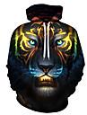 Men\'s Hoodie 3D / Cartoon / Character Hooded Statement / 3D Print Rainbow US32 / UK32 / EU40 US34 / UK34 / EU42 US36 / UK36 / EU44 US38 / UK38 / EU46 US40 / UK40 / EU48 US42 / UK42 / EU50 US44 / UK44
