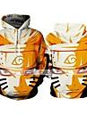 Inspirado por Naruto Naruto Uzumaki Fantasias de Cosplay Moletom Poliester Estampado Estampado Moletom Para Homens / Mulheres