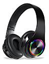 B39 colorido fone de ouvido bluetooth sem fio levou luz head-mounted hifi baixo efeito de som estereo bluetooth 5.0 fone de ouvido
