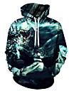 Men\'s Hoodie 3D / Cartoon / Character Hooded 3D Print / Casual Black US32 / UK32 / EU40 US34 / UK34 / EU42 US36 / UK36 / EU44 US38 / UK38 / EU46 US40 / UK40 / EU48 US42 / UK42 / EU50 US44 / UK44